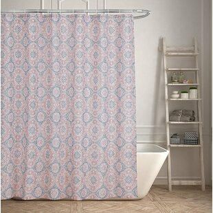 Contemporary Geometric Medallion Single Shower Curtain
