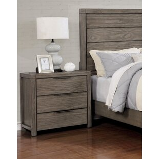 Roseman 3 Drawer Nightstand by Gracie Oaks