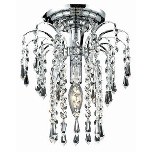 Lasher 1-Light Semi Flush Mount by House of Hampton