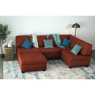 Anke Multi-Functional Reversible Modular Sectional with Ottoman by Latitude Run SKU:CC801546 Details
