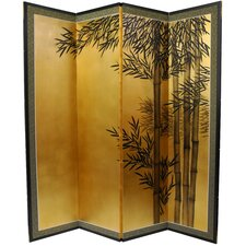 69.5 x 67 Gold Leaf Bamboo 4 Panel Room Divider by Oriental Furniture