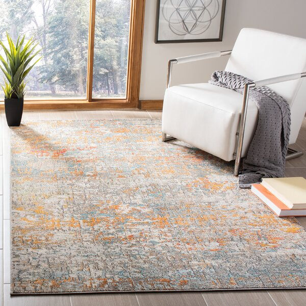 Gutierez Gray Orange Area Rug Wayfair
