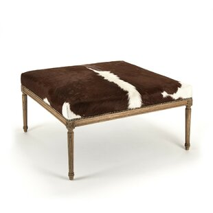 Foundry Select Cyrus Cowhide Cocktail Ottoman