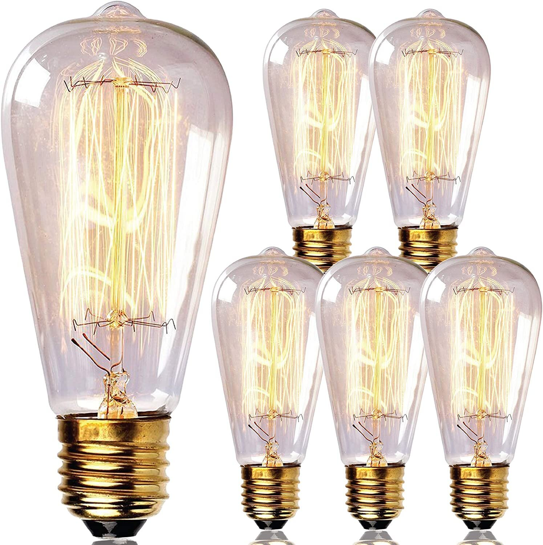60 Watt 60 Watt Equivalent St64 Incandescent Dimmable Light Bulb Warm White 2700k E26 Medium Standard Base Reviews