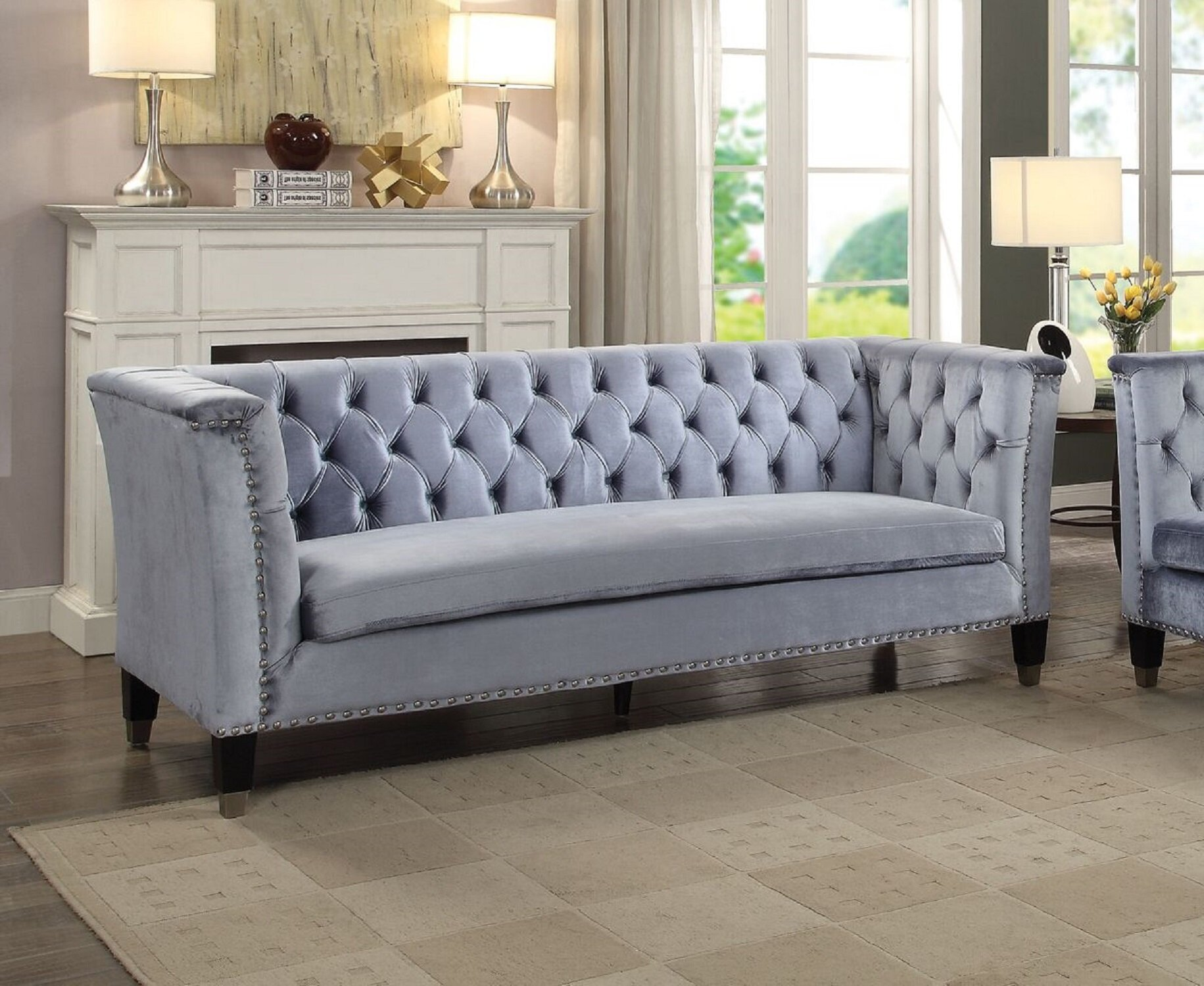 Excellent Friedell Mid Century Chesterfield Sofa Pabps2019 Chair Design Images Pabps2019Com