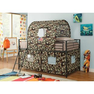 Cunha Army Hunting Twin Loft Bed by