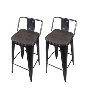 Alric 30 Bar Stool (Set of 2) by 17 Stories