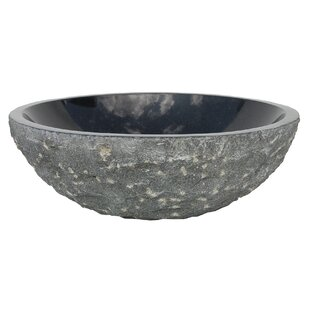 Best Deals Granite Rough Exterior Circular Vessel Bathroom Sink By Eden Bath