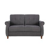 Briscoe 57.48 Rolled Arms Loveseat by Charlton Home®