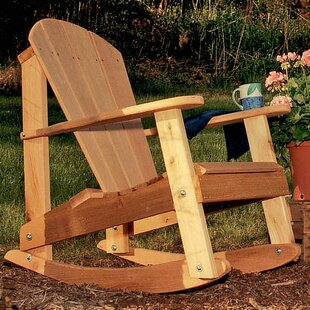 Cedar Furniture and Accessories Solid Wood Rocking Adirondack Chair