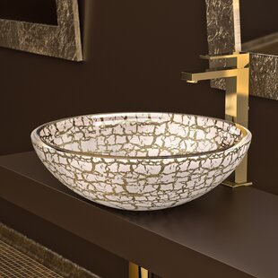 Maestro Bath Atelier Glass Circular Vessel Bathroom Sink