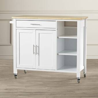 40209792a63 Garrettsville Kitchen Cart with Stainless Steel Top & Reviews ...