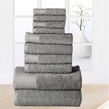 Joplyn 10 Piece 100% Cotton Towel Set