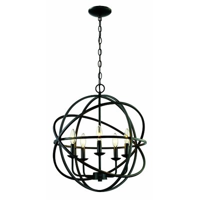 Sharp 5 Light Globe Pendant