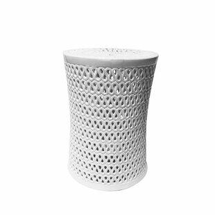 Everly Quinn Sariyah Ceramic Pierced Garden Stool