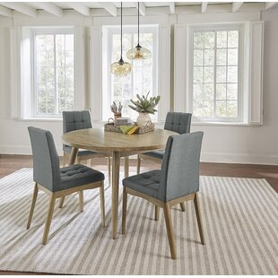 Orbison 5 Piece Solid Wood Dining Set Union Rustic