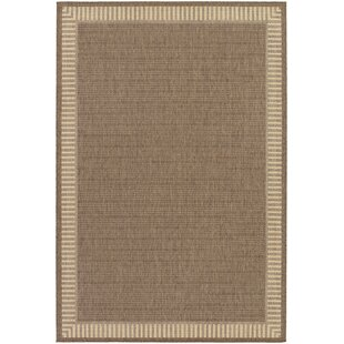 Zachary Wicker Stitch Flatweave Cocoa/Natural Indoor/Outdoor Area Rug