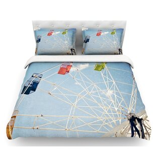 The Show Came to Town by Susannah Tucker Carnival Featherweight Duvet Cover