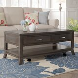 Benbrook Solid Wood Coffee Table with Storage by Red Barrel Studio®