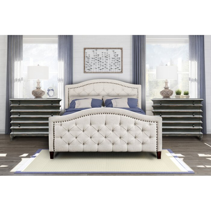 Brilliant Prieto Tufted Camelback Upholstered Platform Bed Caraccident5 Cool Chair Designs And Ideas Caraccident5Info