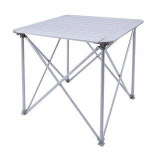 Amedee KingCamp Aluminum Alloy Lightweight Portable Strong Stable Roll Up Folding Camping Table by Freeport Park Great price