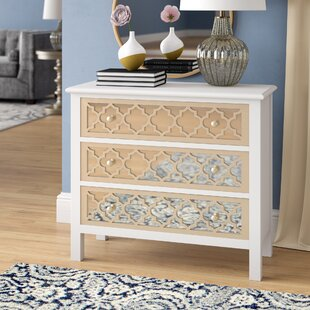 Fernwood 3 Drawer Overlay Mirrored Accent Chest by Willa Arlo Interiors