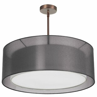 Brayden Studio Waloo 4-Light Double Drum Pendant