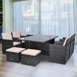 10 Seater Dining Set With Upholstery Cushions Image
