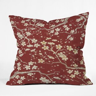 Belle13 Sakura Cherry Blossoms Indoor/Outdoor Throw Pillow