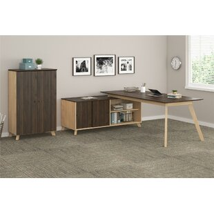 Barbosa Executive 2 Piece L-Shape Desk Office Suite by Ivy Bronx