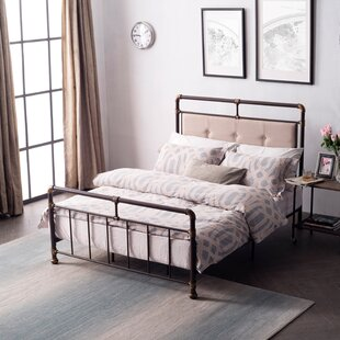 17 Stories Cowgill Metal Upholstered Panel Bed