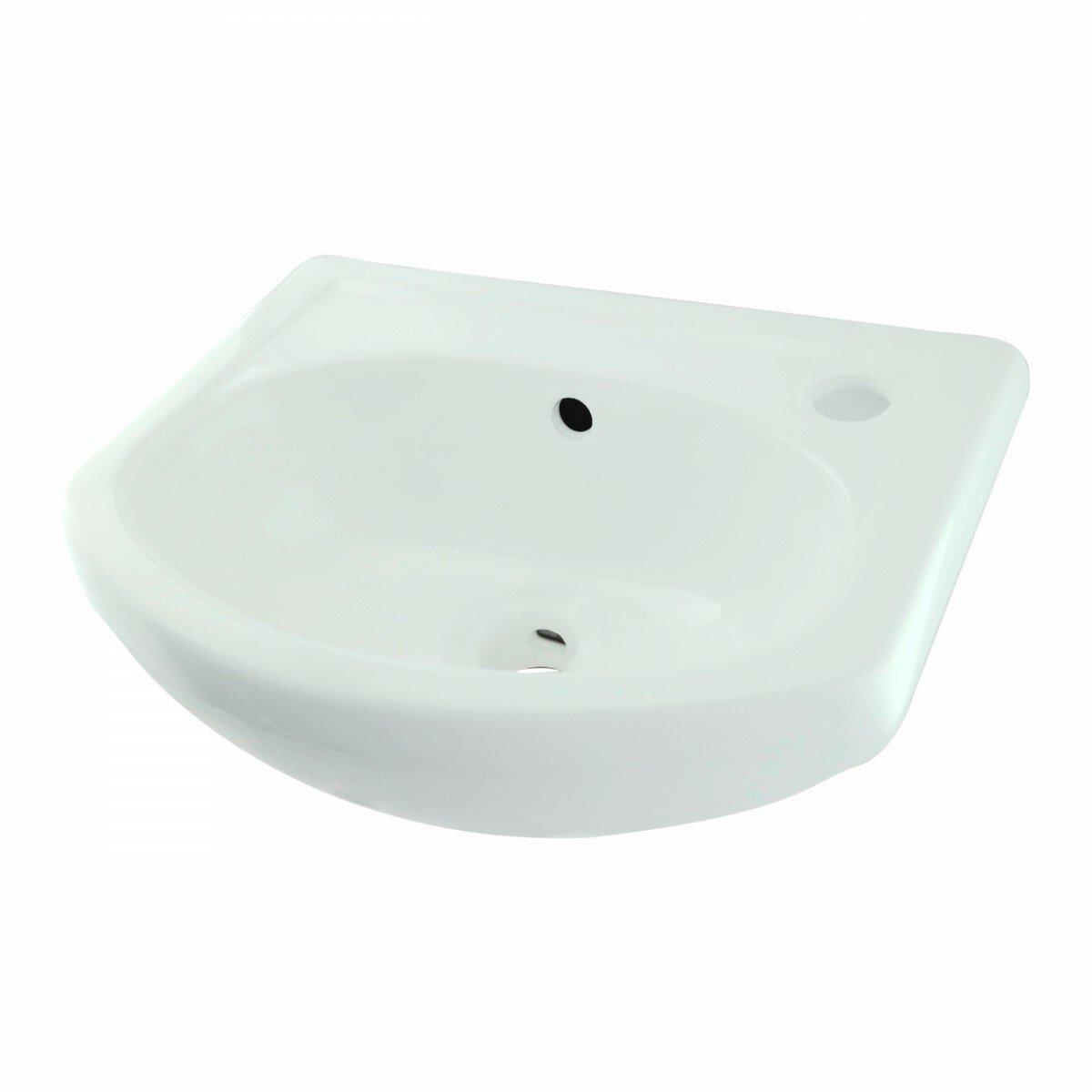 The Renovators Supply Inc Small Space Saving Vitreous China 16 Wall Mount Bathroom Sink With Overflow Wayfair