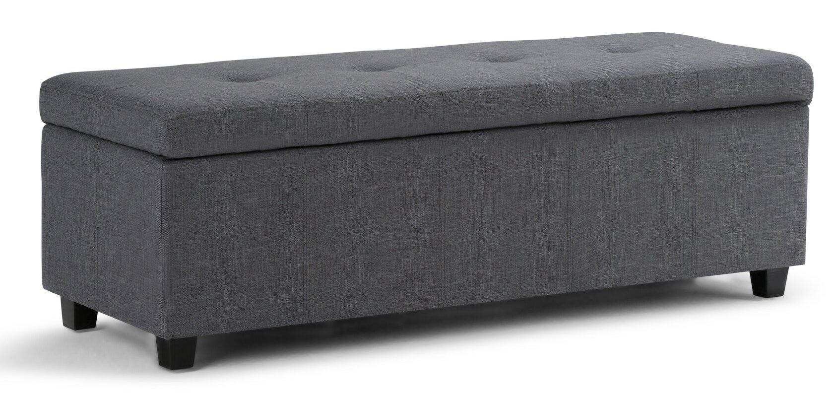 castleford upholstered storage bench. simpli home castleford upholstered storage bench  reviews  wayfair