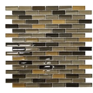 Rosewood Random Sized Slate and Glass Mosaic Tile