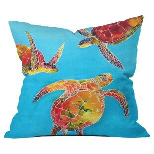 Clara Nilles Tie Dye Sea Turtles Outdoor Throw Pillow