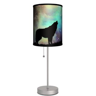 Reviews Overbay Hauling Wolf 19 Table Lamp By Ebern Designs