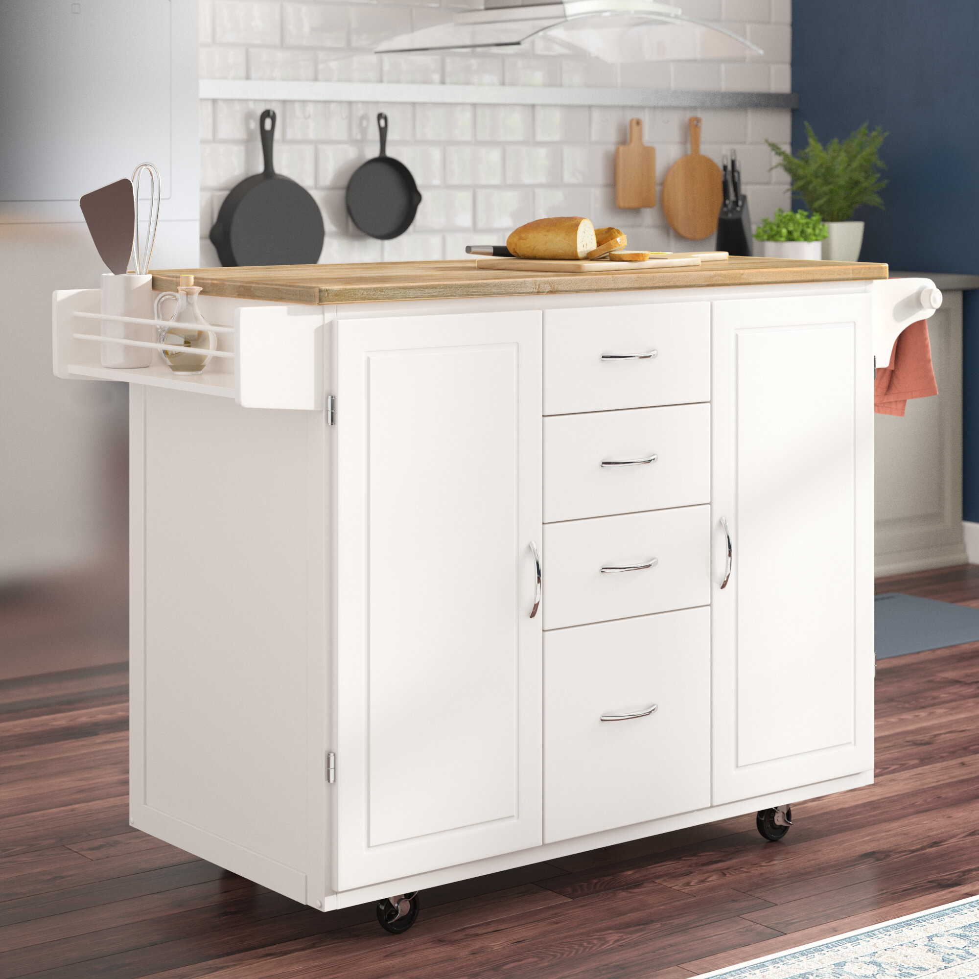 Exceptionnel Harwick Kitchen Island With Wooden Top
