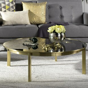 Everly Quinn Sammie Glass Top Coffee Table