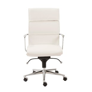 Wrought Studio Keever Chrome Desk Chair