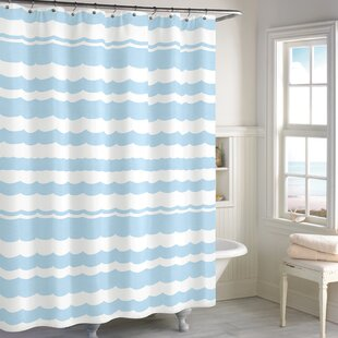 Budget Cissell Scallop Cotton Shower Curtain ByHighland Dunes