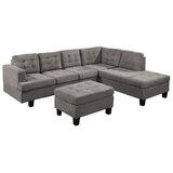 Agustin Right Hand Facing Sectional with Ottoman by Latitude Run