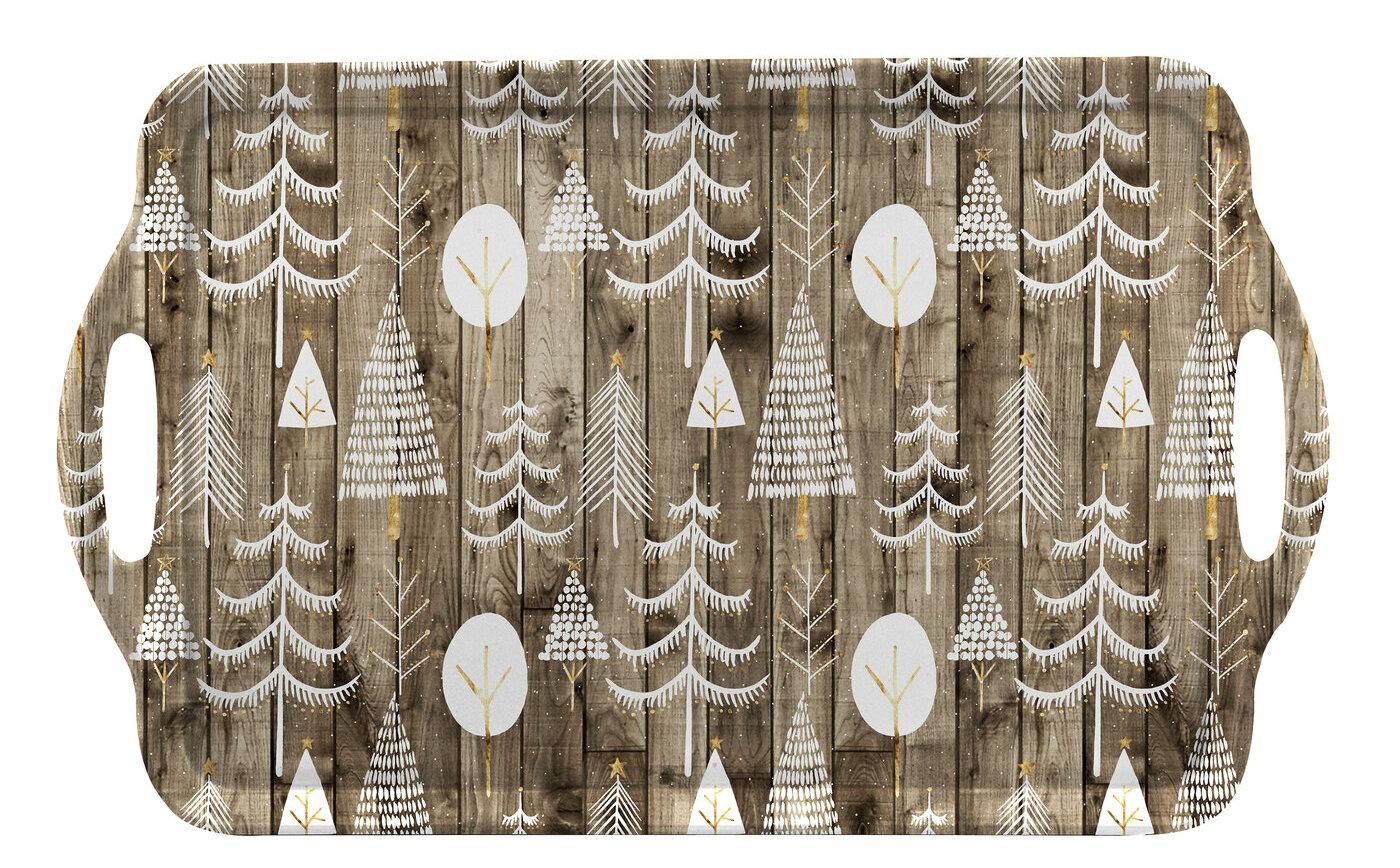 Pimpernel Wooden Christmas Large Handled Melamine Serving Tray Reviews Wayfair