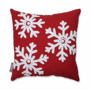 Gryselda Snowflakes 100% Cotton Throw Pillow