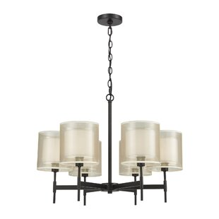 Deatsville 6-Light Shaded Chandelier by Charlton Home