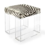 Sydney Plastic Vanity Stool by Square Feathers