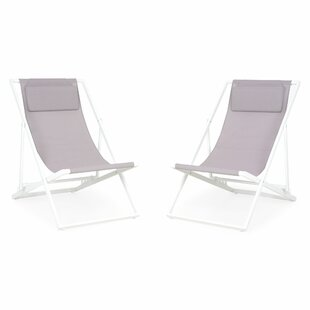 Mabon Folding Beach Chair With Cushion (Set Of 2) By Sol 72 Outdoor