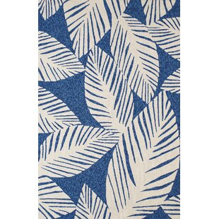 Palm Coast Hand-Woven Blue Indoor/Outdoor Area Rug