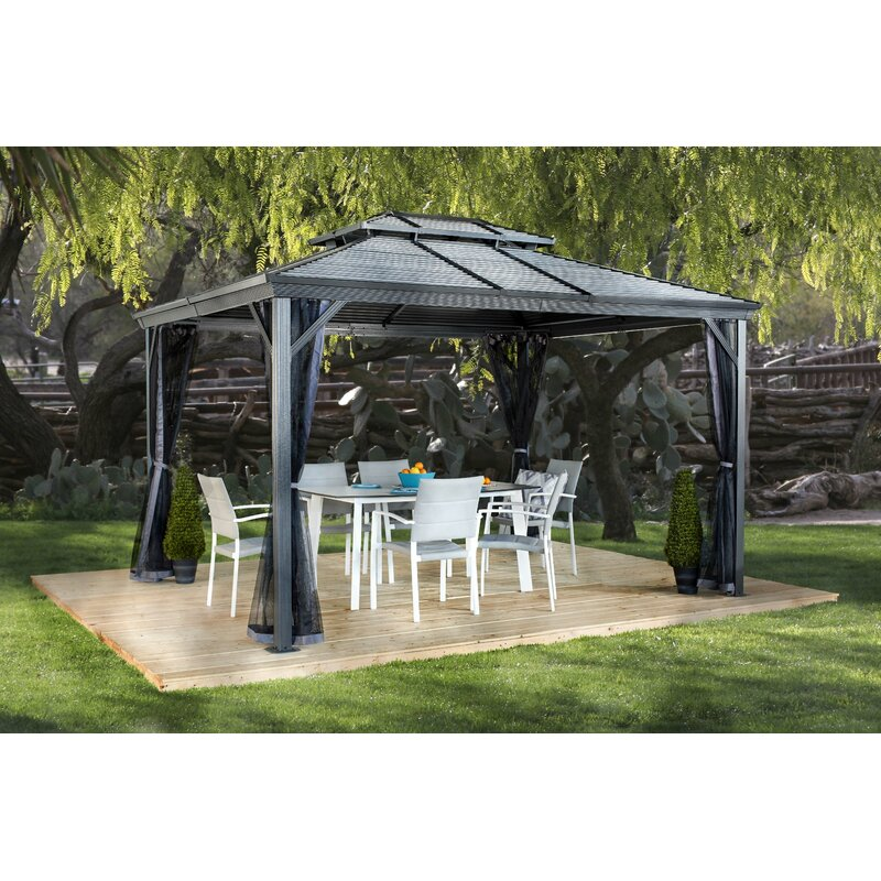 Sojag Ventura Aluminum Patio Gazebo Wayfair Ca