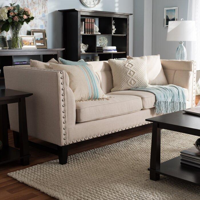 Groovy Baxton Studio Stapleton Modern Sofa Spiritservingveterans Wood Chair Design Ideas Spiritservingveteransorg