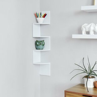 Zig Zag Corner Wall Shelf